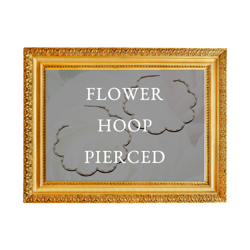 FLOWER HOOP PIERCED